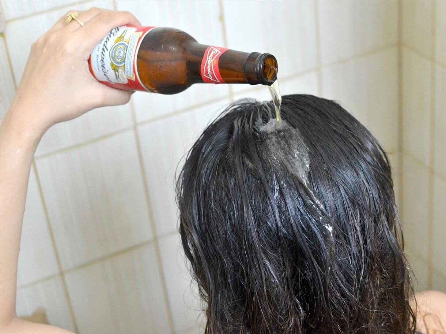 Bí quyết để mái tóc bóng mượt với bia