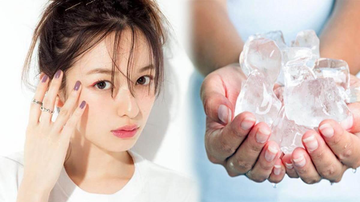 Tác hại của việc chườm đá lên mặt không đúng cách