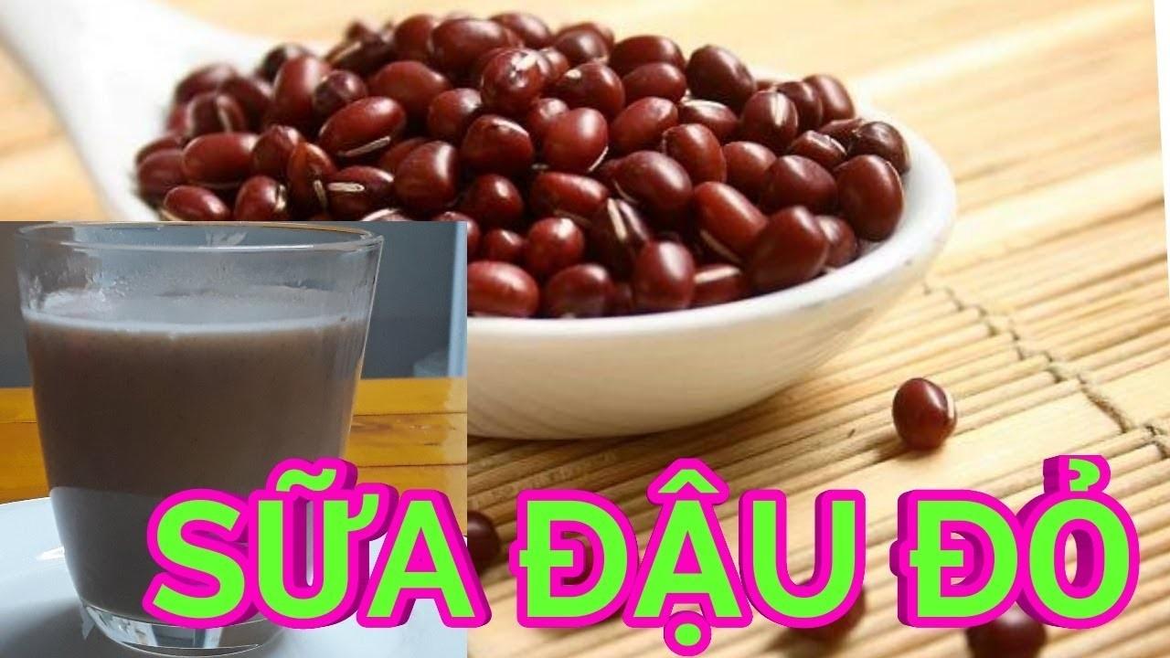 Bật mí cách làm sữa đậu đỏ thơm ngon, bổ dưỡng cho gia đình