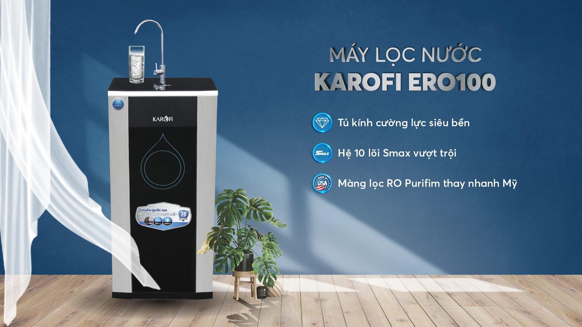 Máy lọc nước karofi ERO100   Karofi.com
