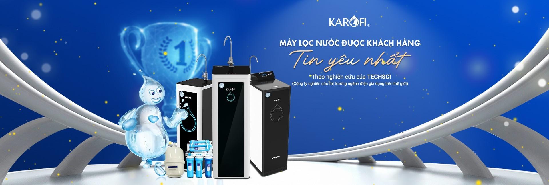 Máy lọc nước Karofi được tin dùng nhất