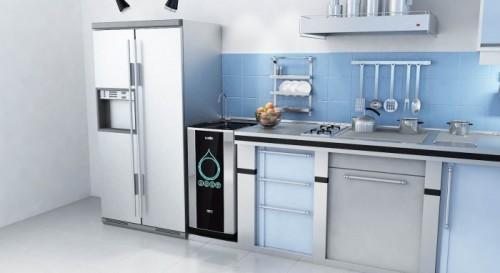 Máy lọc nước lắp vị trí âm tủ bếp