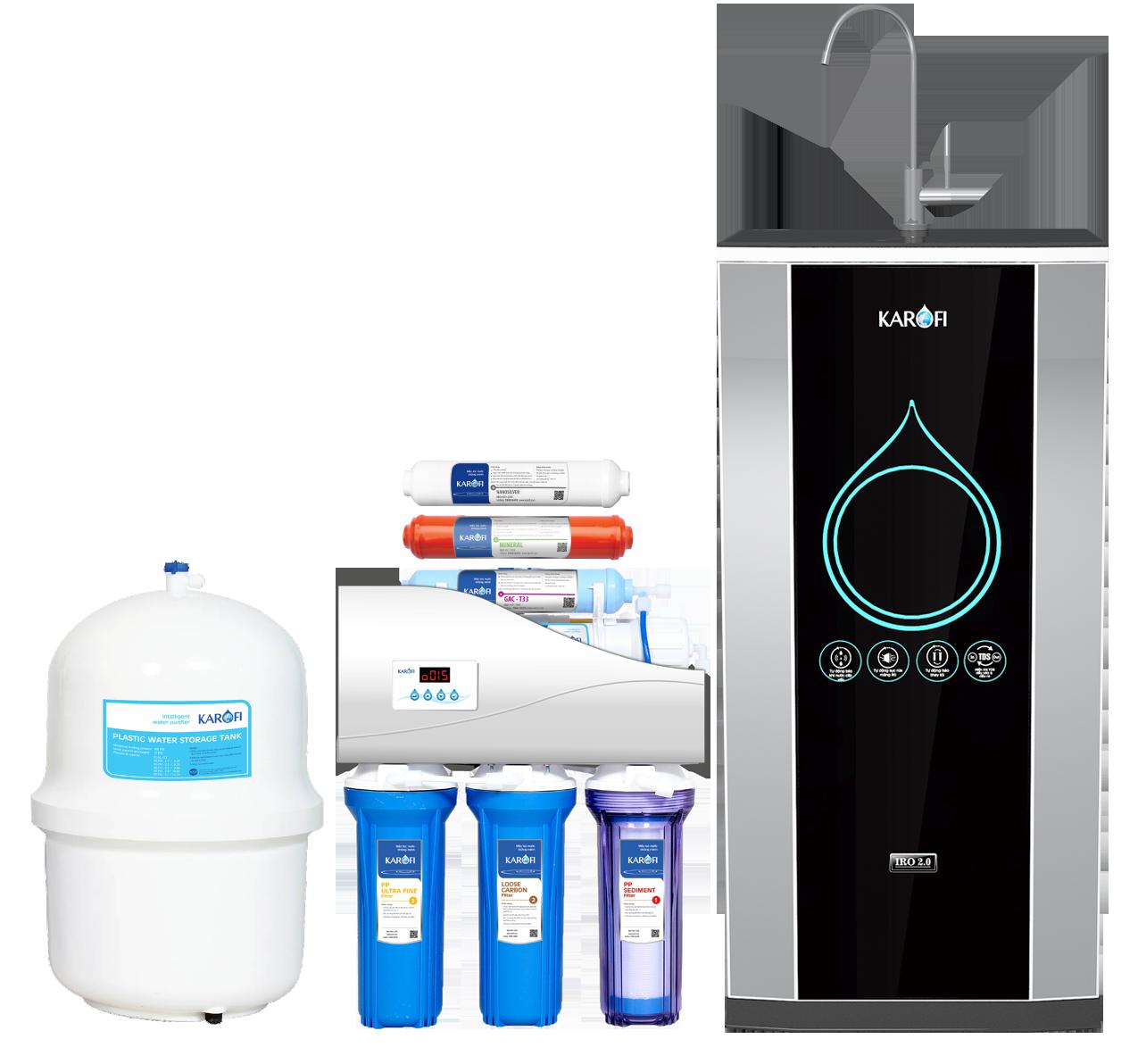 Máy lọc nước Karofi iRO 2.0, 7 cấp