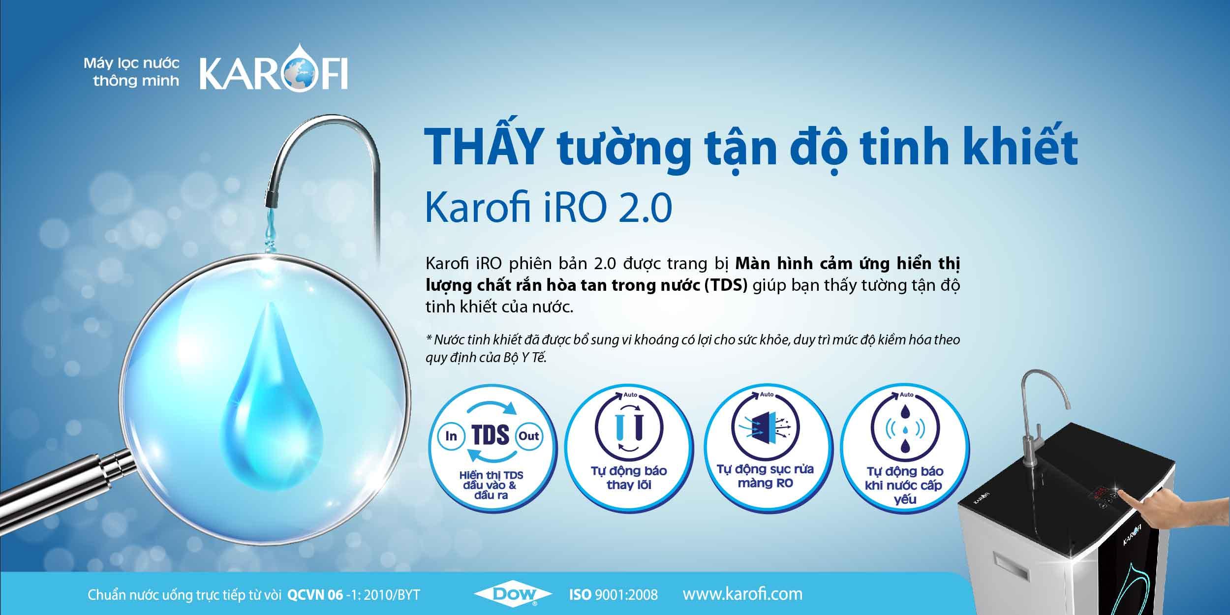 Máy lọc nước có màn hình cảm ứng tiện lợi cho người sử dụng