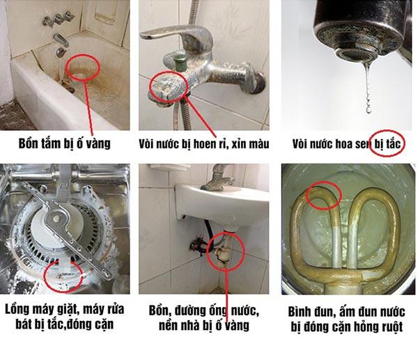 Nước ô nhiễm gây hư hỏng các thiết bị trong gia đình