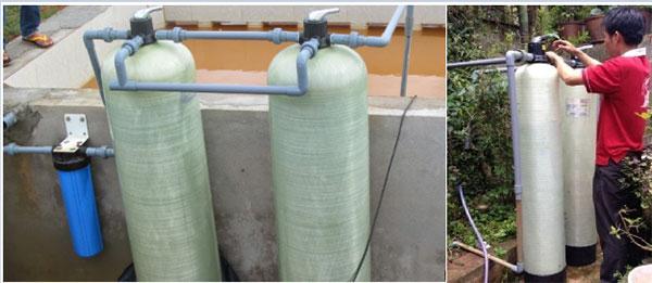 lắp đặt hệ thống lọc nước sinh hoạt tại nhà dân