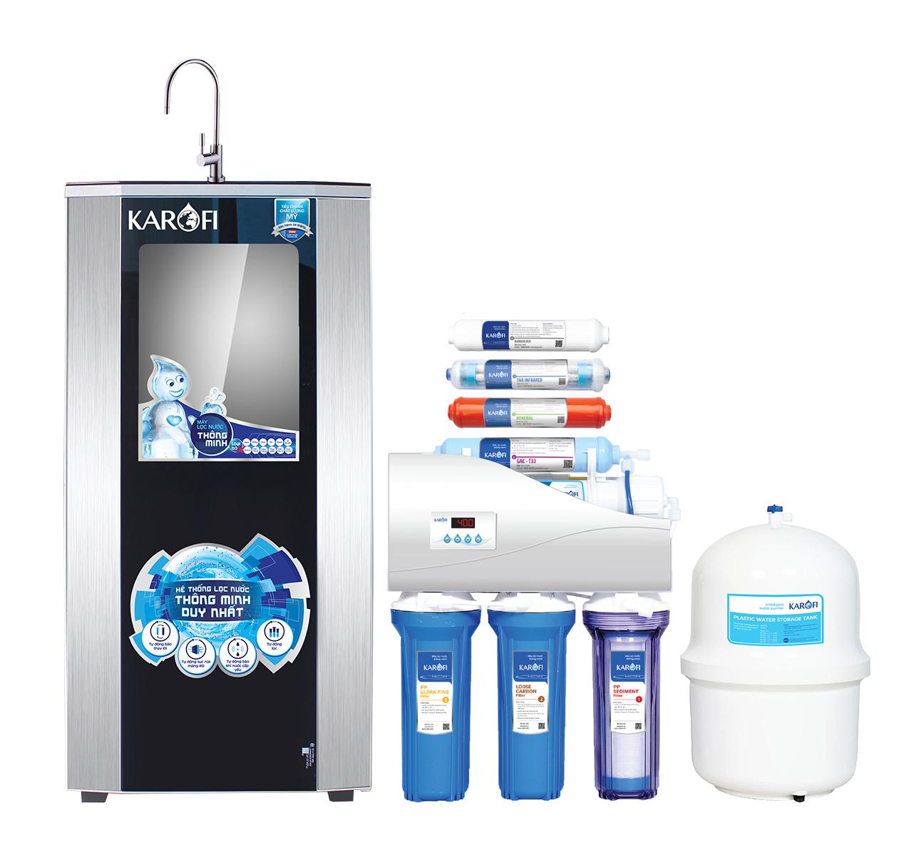 Máy lọc nước Karofi iRO 1.1, 8 cấp