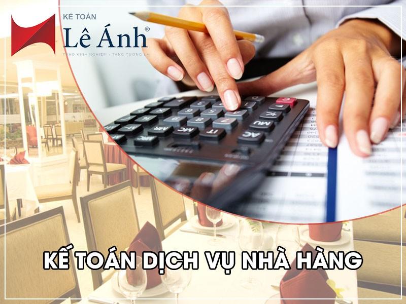 Hướng dẫn kế toán dịch vụ nhà hàng