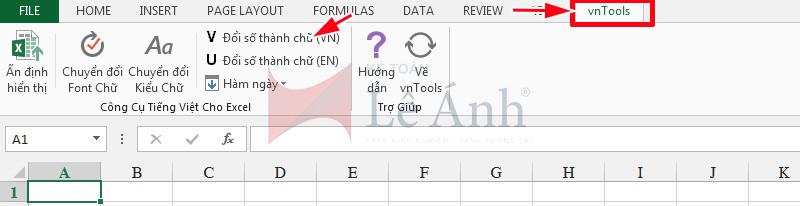 Đổi số thành chữ trong Excel 3