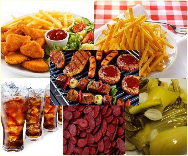 Một số loại thực phẩm có chứa hóa chất gây ung thư