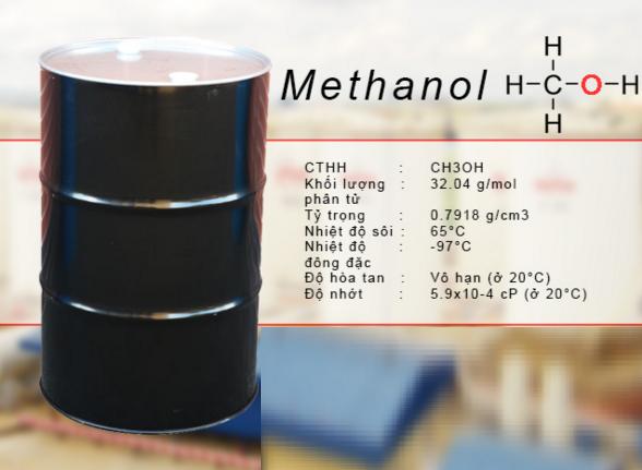 hóa chất tẩy rửa dầu mỡ - Dung môi hữu cơ Methanol