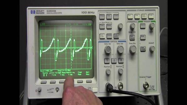 máy hiện sóng - Dạng sóng hiển thị trên máy