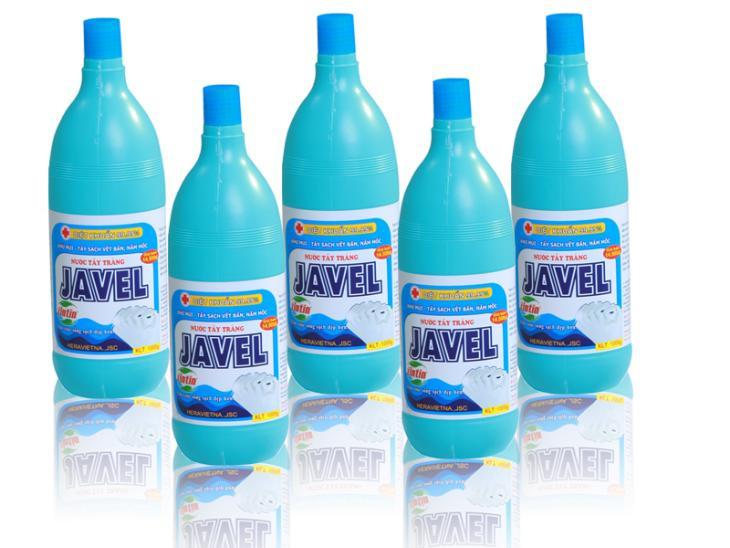 Nước javel được sử dụng trong tẩy trắng vải
