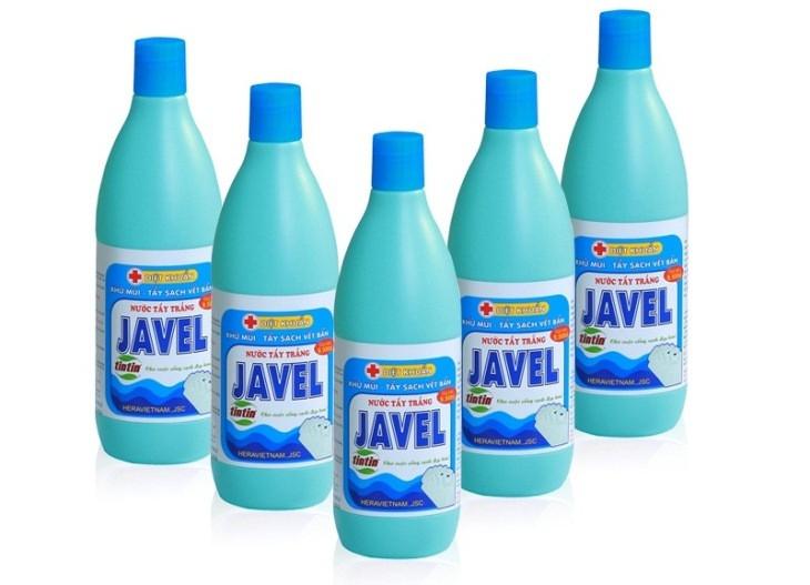Hình ảnh nước tẩy Javen được sử dụng phổ biến hiện nay