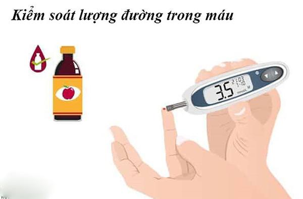 Hình ảnh việc đo chỉ số đường trong máu