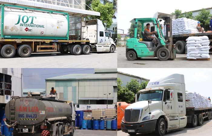 Mỗi loại hóa chất sẽ có phương tiện vận chuyển chuyên dụng riêng.