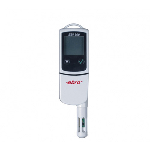 Đồng hồ đo nhiệt độ/độ ẩm hiển thị số kết nối máy tính bằng cổng USB EBI 300 TH Ebro