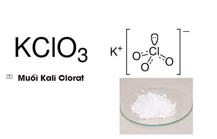Hình ảnh muối Kali Clorat - Phương trình nhiệt phân KCLO3