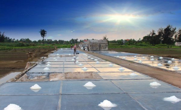 Hình ảnh vựa muối quy trình sản xuất muối sạch trên cát ở Nghệ An