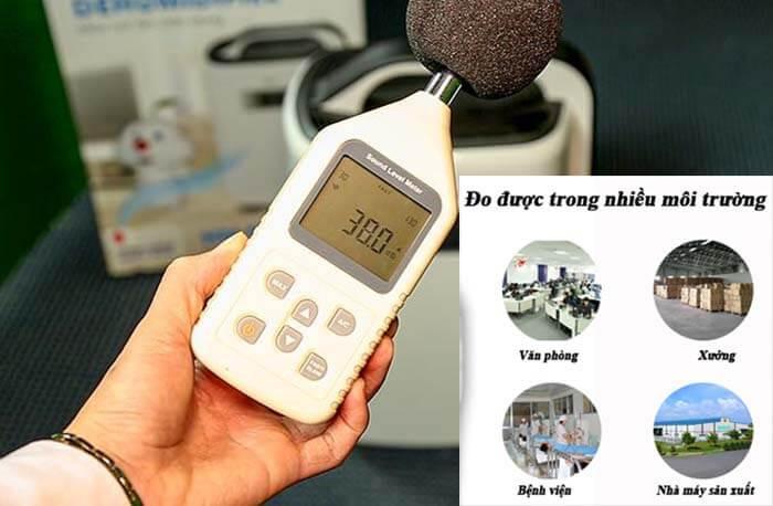 Máy đo tiếng ồn được dùng trong nhiều nơi
