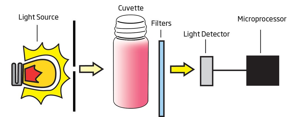 Quy trình truyền sáng qua cuvet