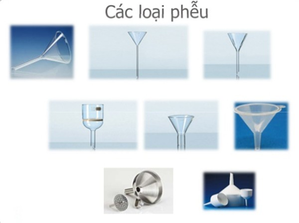 Hình ảnh các loại phễu lọc sử dụng trong phòng thí nghiệm