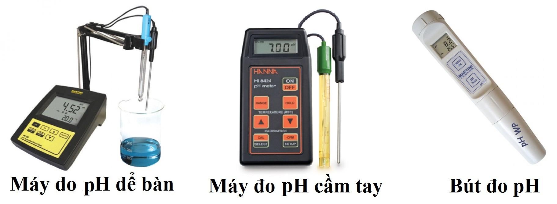 Các loại máy đo độ pH hiện nay