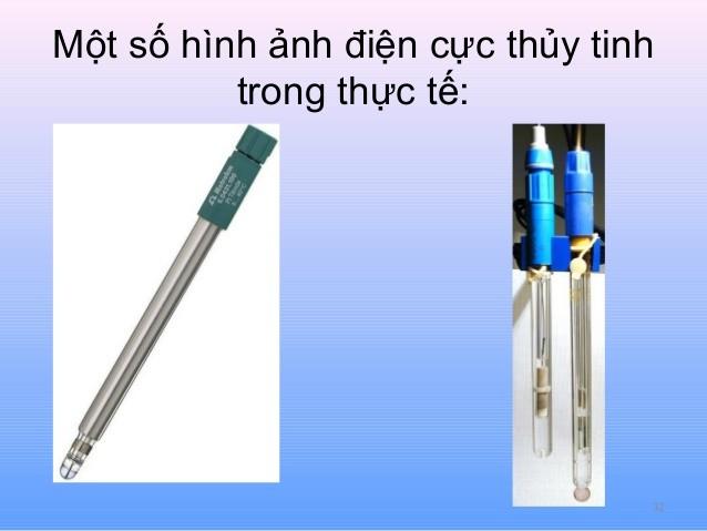 Hình ảnh của điện cực thủy tinh đo pH
