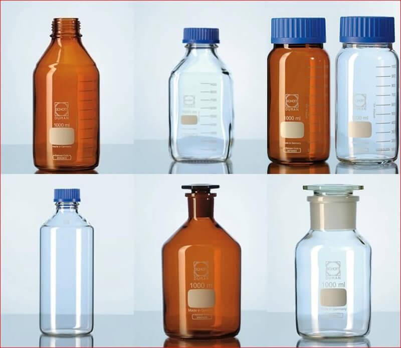 Chai chứa đựng hóa chất hãng Duran - Đức