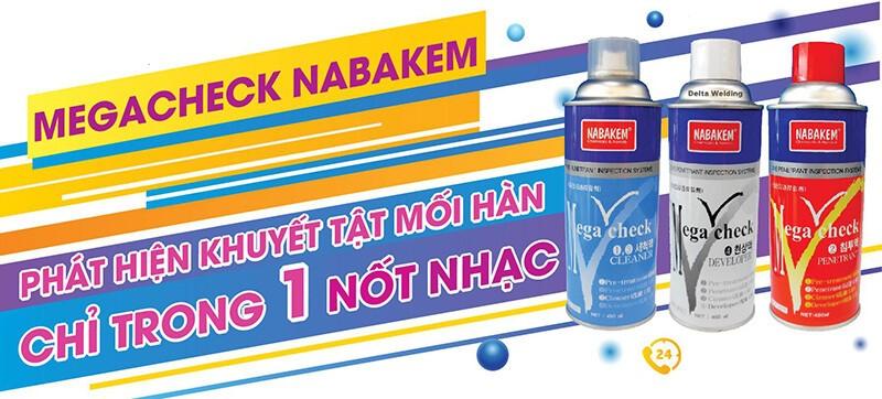 Bộ 3 hóa chất kiểm tra mối hàn NabakemMega Check