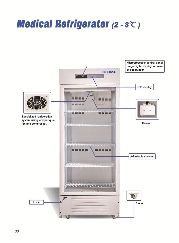 Cấu tạo của tủ lạnh bảo quản mẫu