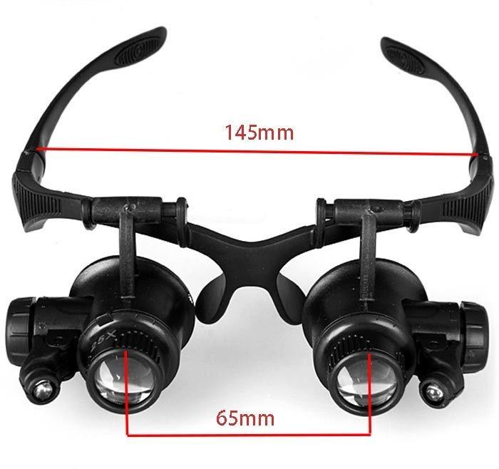 kính lúp đeo mắt có đèn