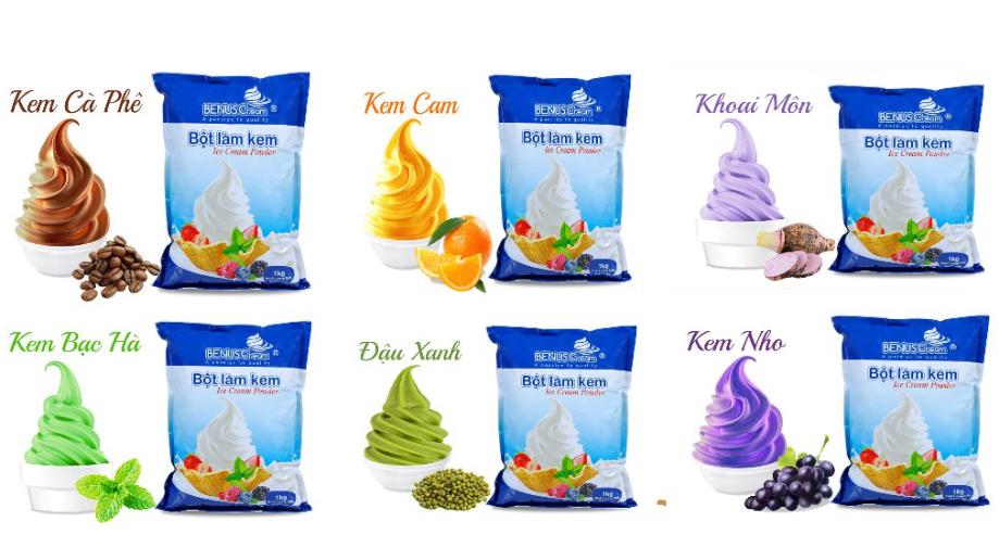 Để có kem thành phẩm hấp dẫn, cần bảo quản nguyên liệu ở nơi thoáng mát