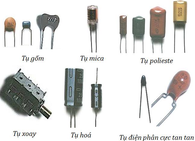 Hình ảnh một số loại tụ điện