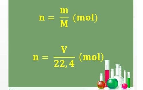 Các công thức tính số mol nguyên tử, phân tử
