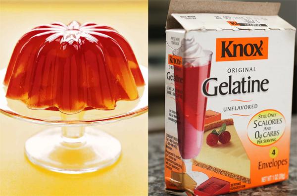 Thành phẩm tạo ra từ bột Gelatin giống như kem