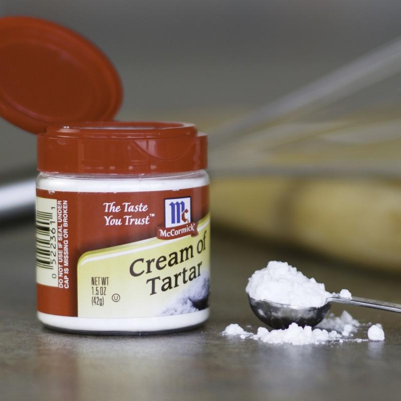 Sử dụng cream of tartar