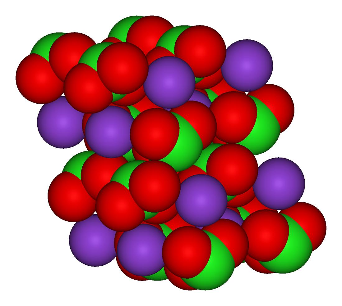 Cấu tạo phân tử của Kali Clorat