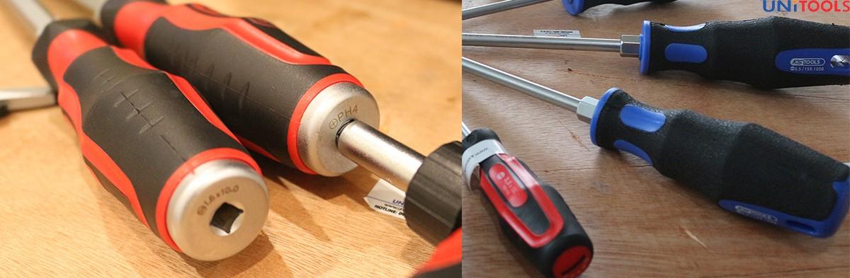 Sử dụng tô vít đóng để tác dụng lực lên ốc vít