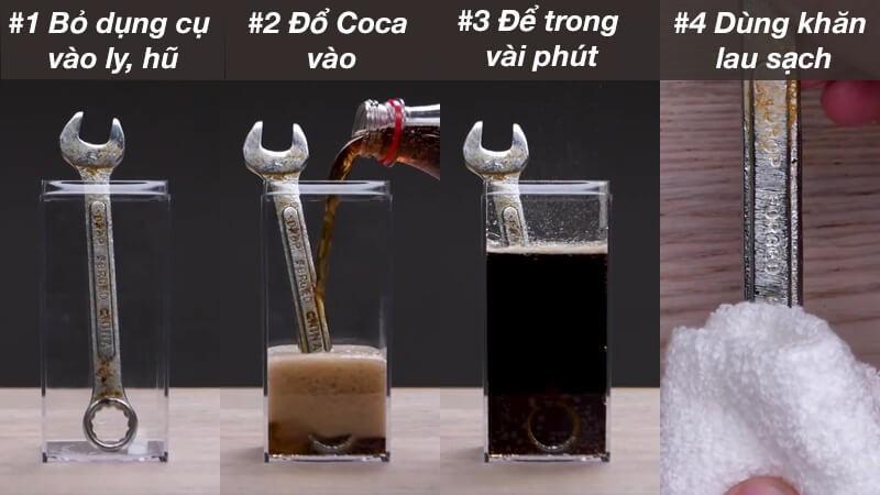 Coca cola giúp loại bỏ gỉ sét hiệu quả