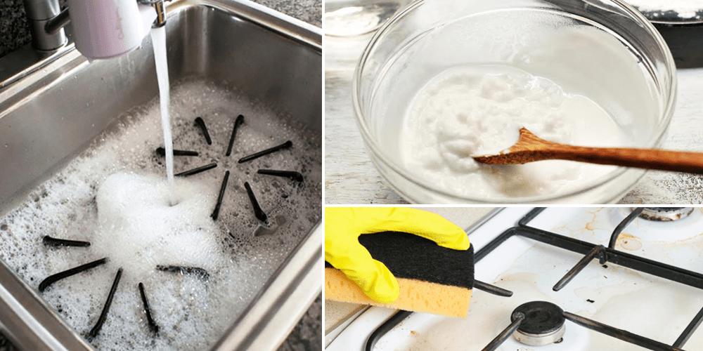 Làm sạch các dụng cụ nấu ăn trong nhà bếp
