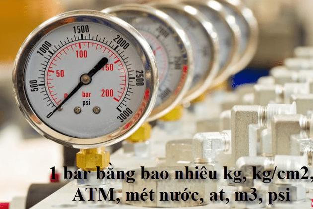 Quy đổi đơn vị đo áp suất như nào?