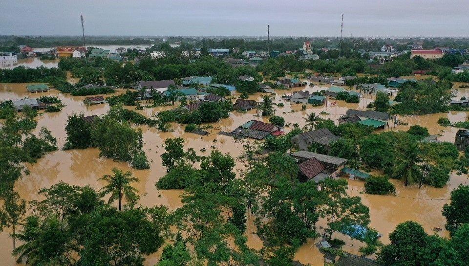 Lụt lội trên diện rộng do mưa nhiều