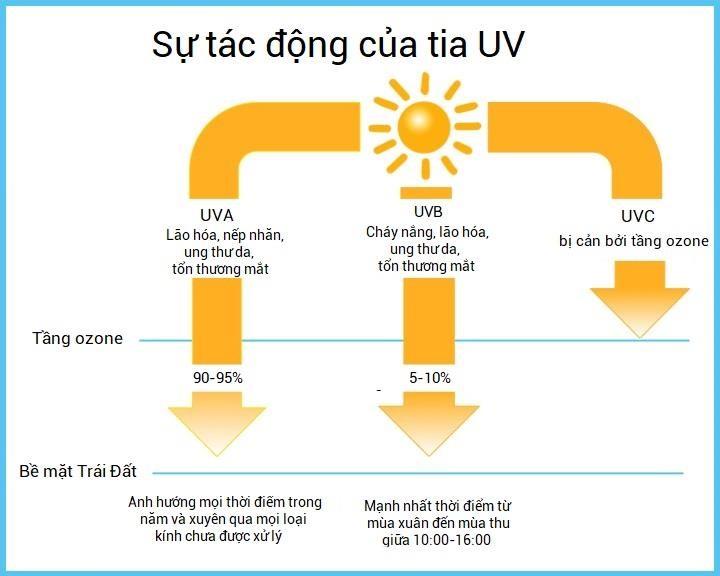 Tia UV gây ra nhiều tác động tiêu cực đến sức khỏe con người