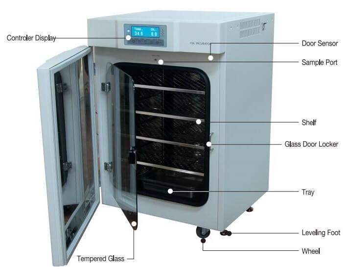 Cấu tạo của tủ ấm CO2