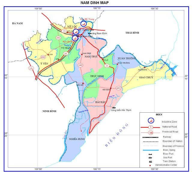 Điều kiện tự nhiên và khí hậu địa lý tỉnh Nam Định
