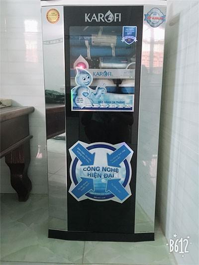 Máy lọc nước karofi ksi80 khách hàng gửi ảnh phản hồi
