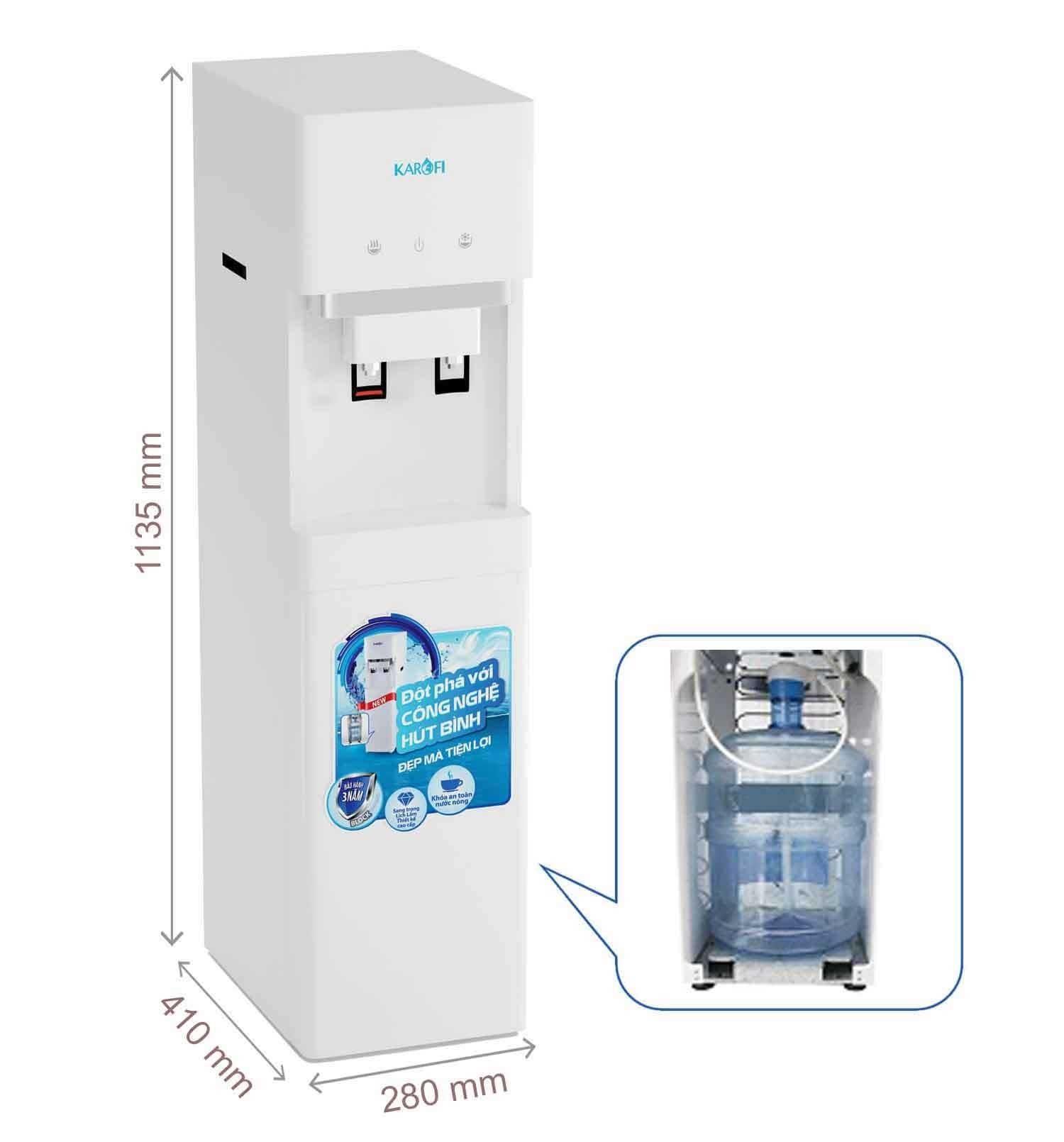 Hình ảnh Cây nước nóng lạnh karofi hc300w
