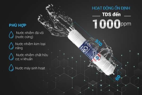 Màng lọc RO phù hợp với mọi nguồn nước