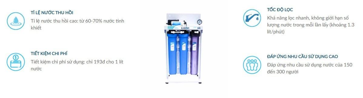 Ưu điểm máy lọc nước bán công nghiệp 80L có bình áp